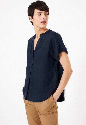 Блуза Marks & Spencer. Цвет: синий