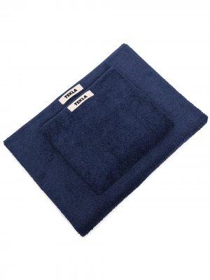 Комплект полотенец с нашивкой-логотипом TEKLA. Цвет: синий