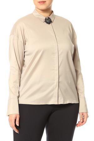 Рубашка Luisa Cerano. Цвет: бежевый