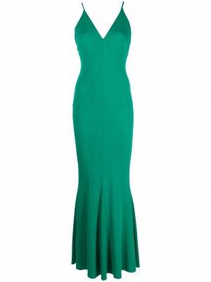 Расклешенное вечернее платье без рукавов Alexandre Vauthier. Цвет: зеленый