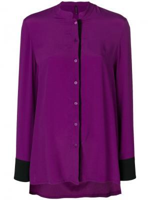 Асимметричная рубашка в стиле колор-блок Pierantoniogaspari. Цвет: розовый