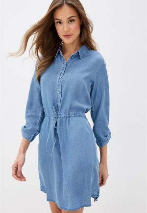 Платье джинсовое Tom Tailor Denim. Цвет: голубой