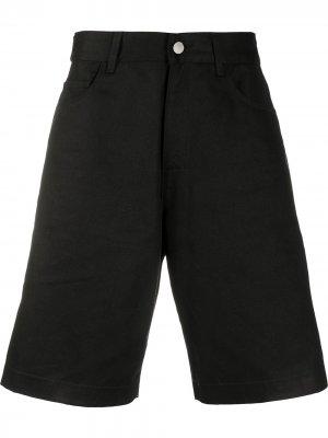 Джинсовые шорты широкого кроя Raf Simons. Цвет: черный