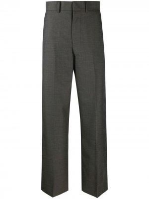Укороченные расклешенные брюки Junya Watanabe. Цвет: серый
