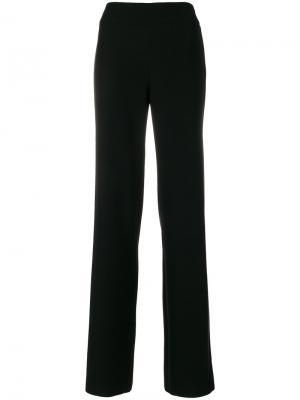 Классические брюки с высокой талией Emporio Armani. Цвет: черный