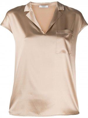 Блузка с V-образным вырезом Peserico. Цвет: нейтральные цвета