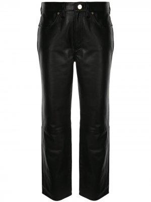 Укороченные брюки прямого кроя GOLDSIGN. Цвет: черный