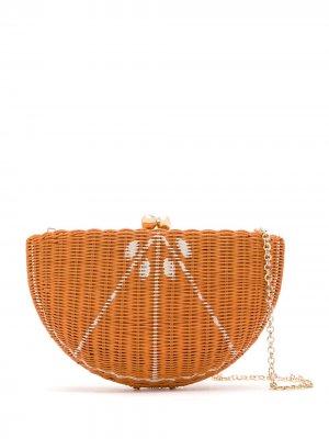 Соломенная сумка SERPUI. Цвет: оранжевый