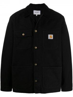 Джинсовая куртка свободного кроя Carhartt WIP. Цвет: черный