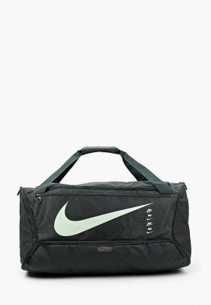Сумка спортивная Nike. Цвет: зеленый
