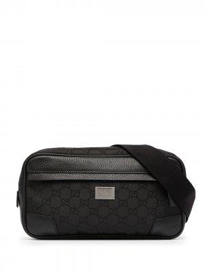 Поясная сумка с монограммой GG Gucci Pre-Owned. Цвет: черный