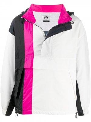 Куртка в стиле колор-блок Eytys. Цвет: белый