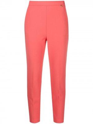 Укороченные брюки с завышенной талией Elisabetta Franchi. Цвет: красный