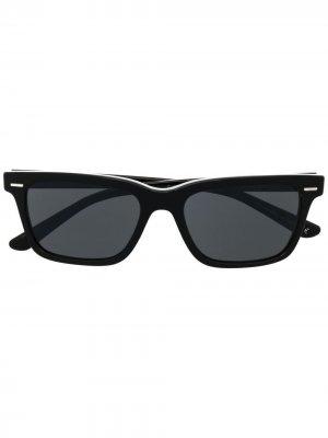 Солнцезащитные очки в квадратной оправе Oliver Peoples. Цвет: черный