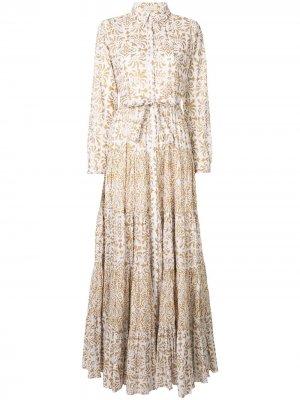 Платье с принтом Baroque Mes Demoiselles. Цвет: белый