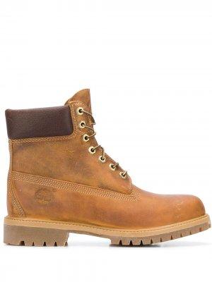 Ботинки на шнуровке Timberland. Цвет: коричневый