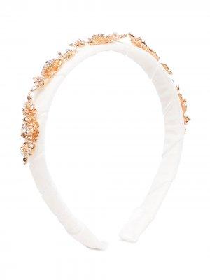 Ободок с кристаллами David Charles. Цвет: белый