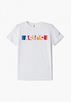Футболка ASICS. Цвет: белый