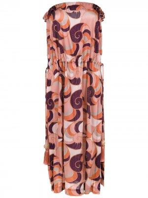 Sleeveless dress Adriana Degreas. Цвет: разноцветный