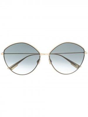 Очки с затемненными линзами в круглой оправе Dior Eyewear. Цвет: черный