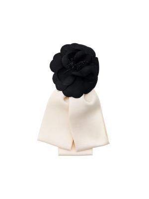 Корсаж в форме розы Camelia Chanel Vintage. Цвет: черный
