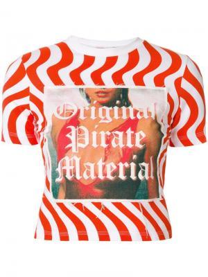 Футболка Original Pirate Material House Of Holland. Цвет: красный