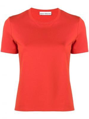 Футболка с логотипом Paco Rabanne. Цвет: оранжевый