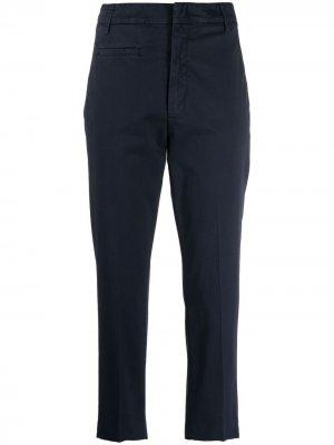 Укороченные брюки чинос Dondup. Цвет: синий