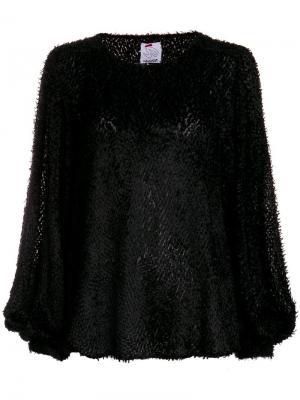 Fil coupé balloon sleeve blouse Ultràchic. Цвет: черный