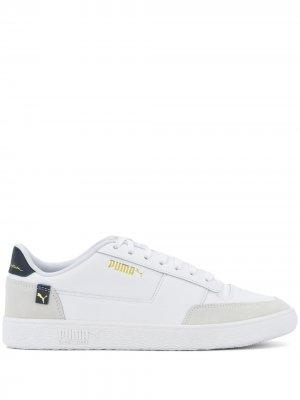 Кеды на шнуровке Puma. Цвет: белый