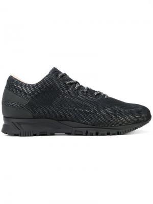 Кроссовки на шнуровке Lanvin. Цвет: черный