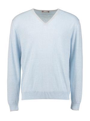 Пуловер Andrea Fenzi. Цвет: голубой