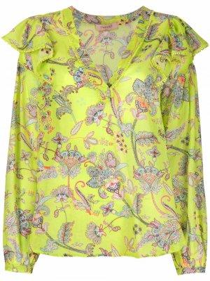 Блузка с цветочным принтом TWINSET. Цвет: зеленый