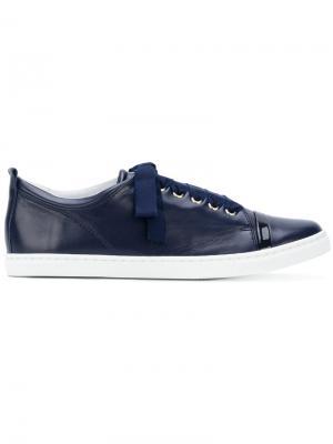 Кроссовки с контрастным носком Lanvin. Цвет: синий