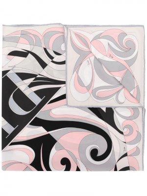 Платок с принтом Emilio Pucci. Цвет: серый