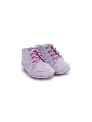 Ботинки на шнуровке Gallucci Kids. Цвет: фиолетовый