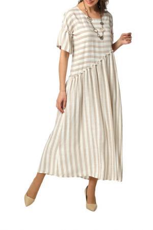 Платье DIZZYWAY. Цвет: бежевый