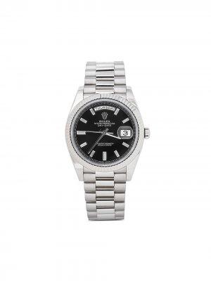 Наручные часы Day-Date pre-owned 40 мм 2015-го года Rolex. Цвет: черный