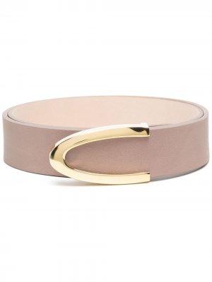 Ремень с овальной пряжкой B-Low The Belt. Цвет: нейтральные цвета
