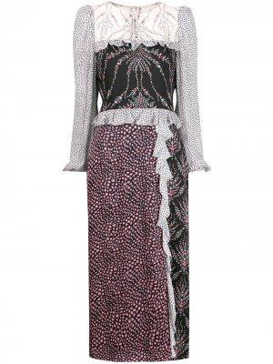 Платье миди Vita с принтом Liberty London. Цвет: черный
