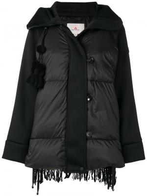 Фактурная дутая куртка Peuterey. Цвет: черный