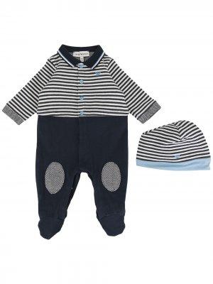 Комплект для новорожденного в полоску Emporio Armani Kids. Цвет: синий