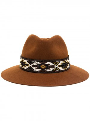 Шляпа-трилби Henrietta Maison Michel. Цвет: коричневый
