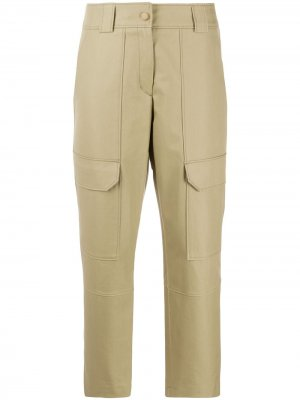 Укороченные брюки карго Yves Salomon. Цвет: зеленый