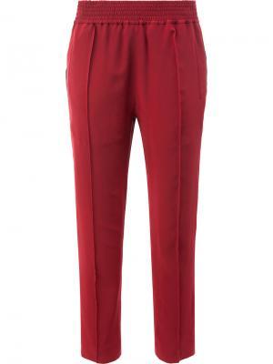 Укороченные брюки с эластичным поясом Haider Ackermann. Цвет: красный