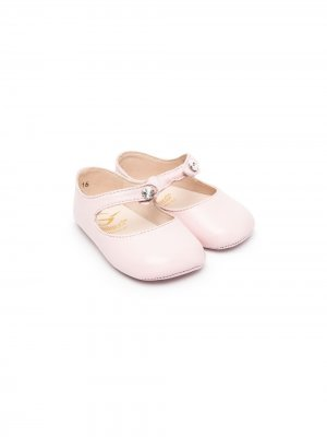 Декорированные ботинки Gallucci Kids. Цвет: розовый
