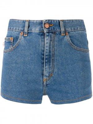 Джинсовые шорты с принтом Fiorucci. Цвет: синий