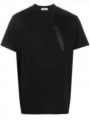 Футболка с логотипом Givenchy. Цвет: черный
