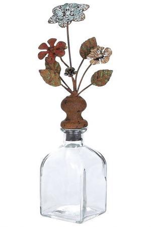 Бутыль с пробкой, 30х10х10 см UMA. Цвет: коричневый