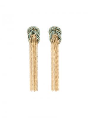 Серьги-подвески с кисточкой Incontro Rosantica. Цвет: металлик